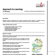 approach to learning report example