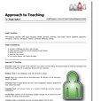 approach to teaching report example